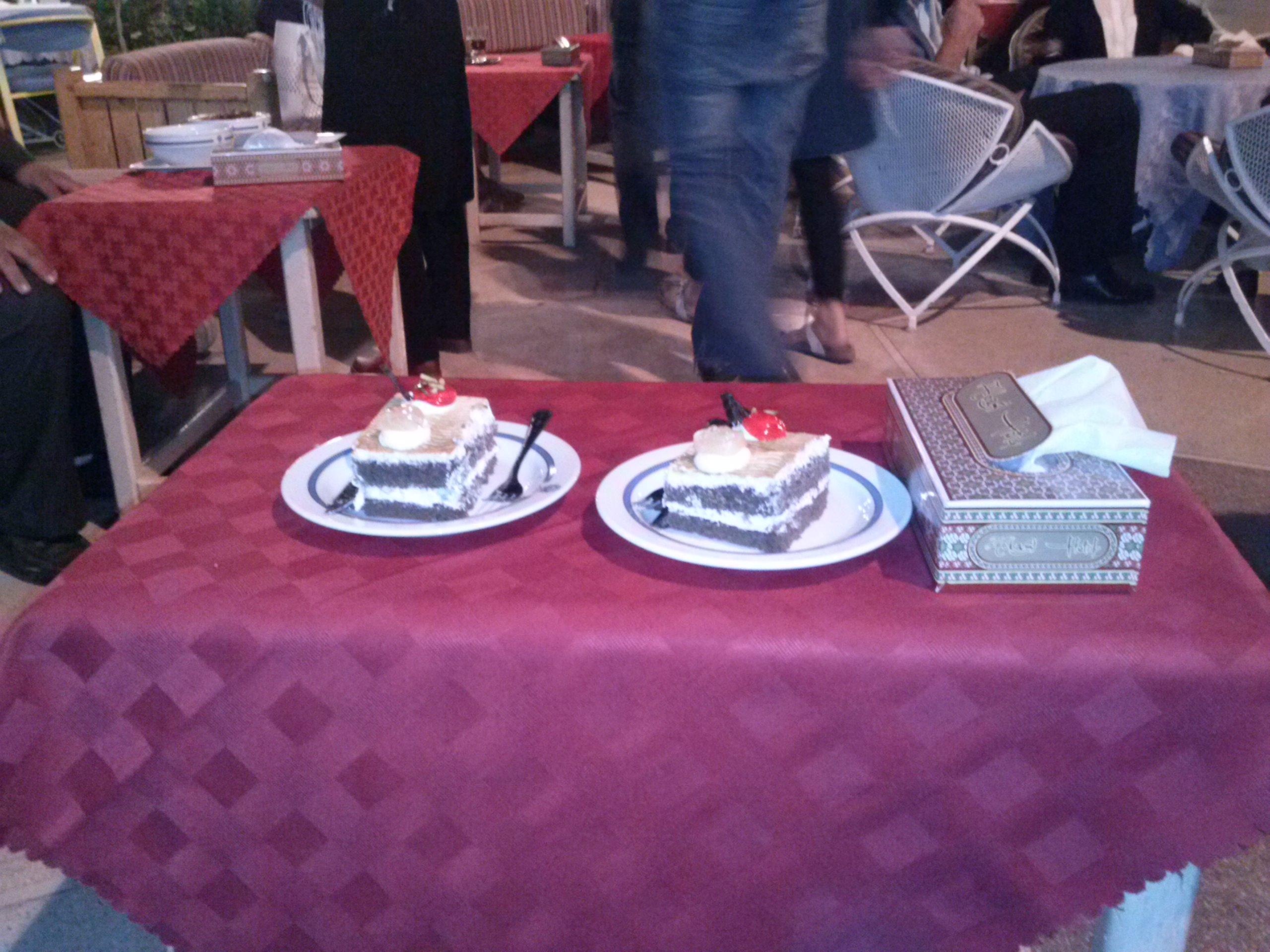 Kuchen im Hotel