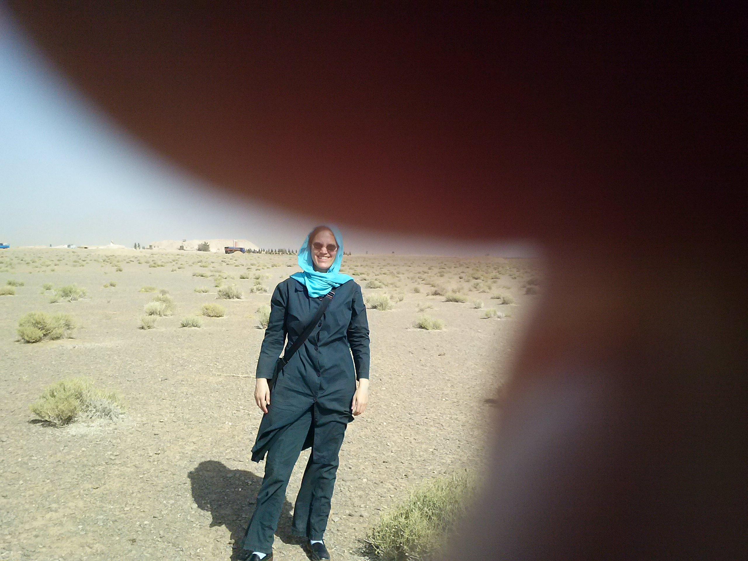 Handybild von mir in der Kavir
