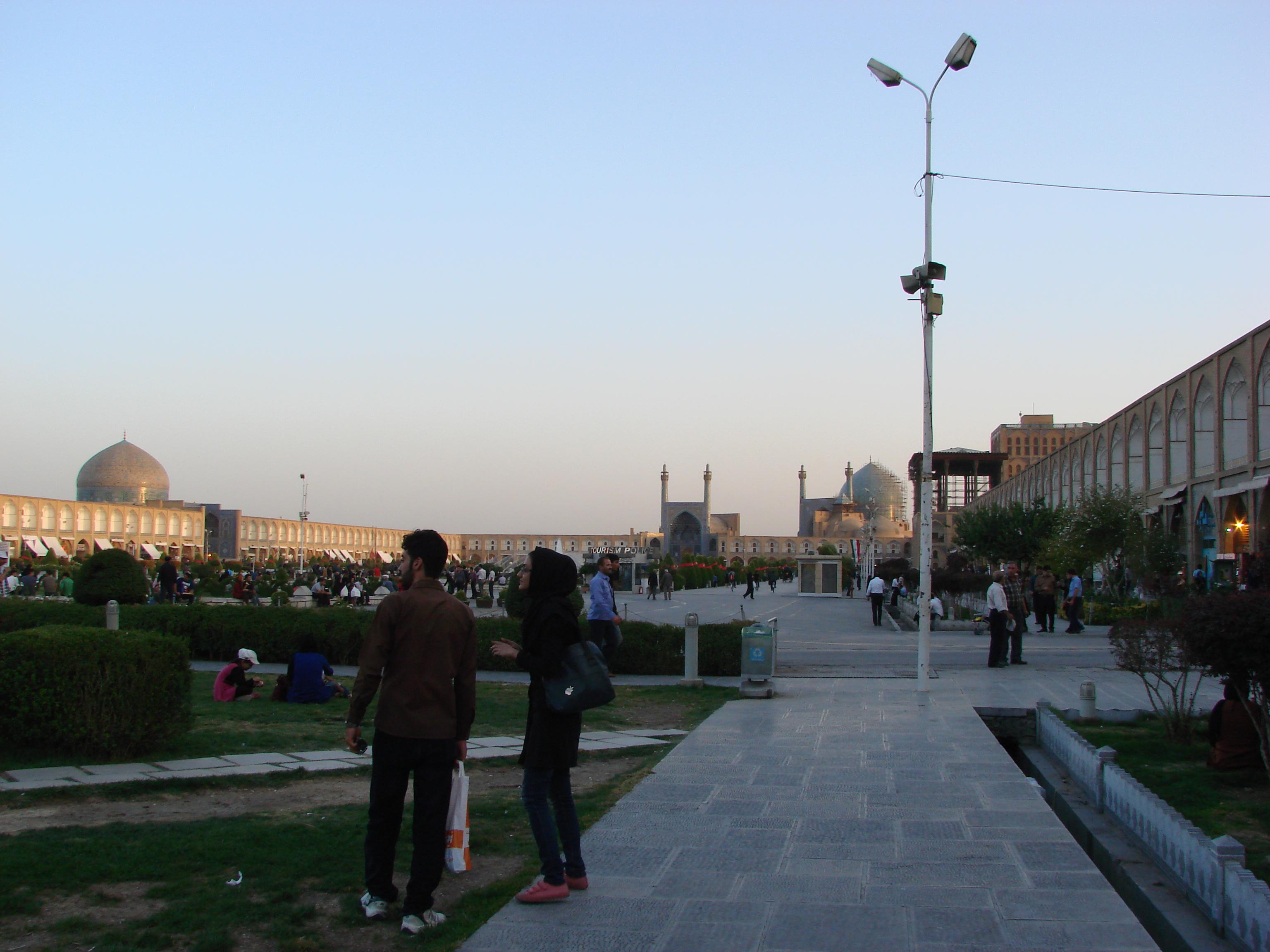 Blick von der Bazarseite über den Meydân
