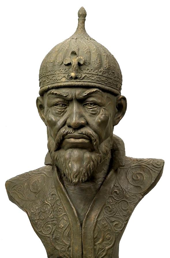 Forensische Gesichtsrekonstruktion Tîmûrs durch M. Gerasimov (CC-Lizenz 3.0, Autor: user:shakko)